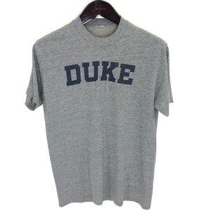 DUKE University T-shirt M Medium Heather Gray